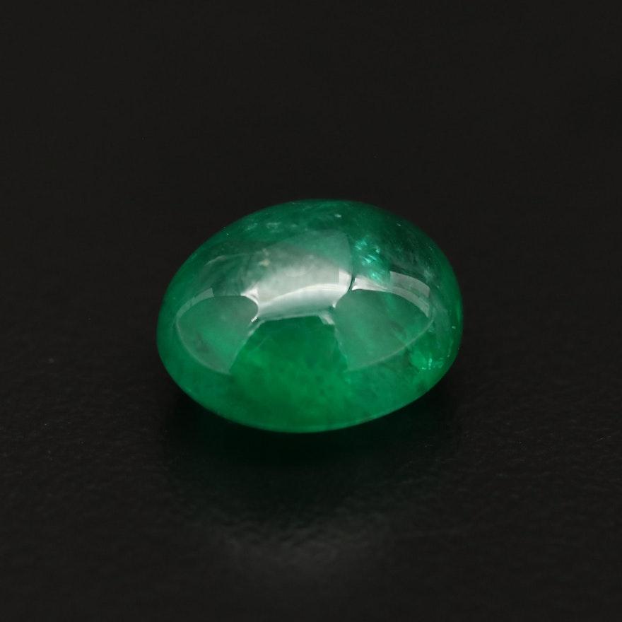 Loose 6.86 CT Emerald