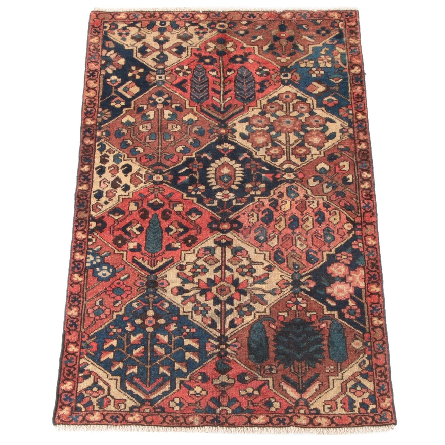 3'7 x 5'10 Hand-Knotted Persian Bakhtiari Wool Rug