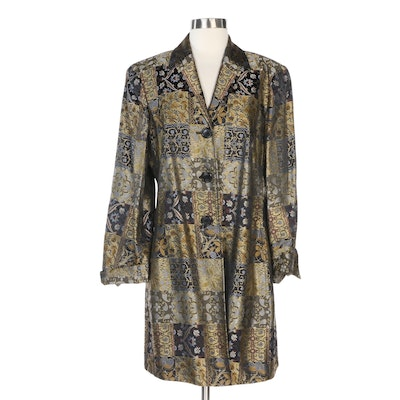 Renfrew Dress Jacket in Patchwork Style Floral Brocade