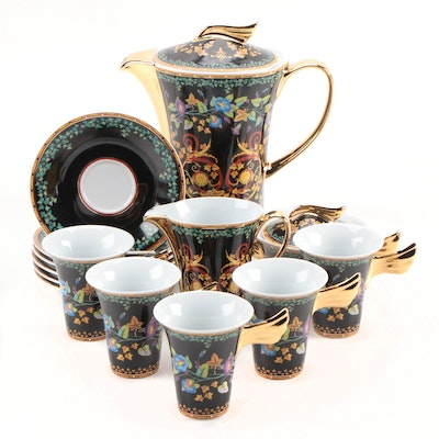 "Versace for Rosenthal ""Gold Ivy"" Porcelain Coffee Service, 1998–2003"