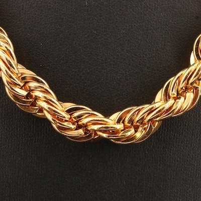 Wide Rope Style Chain Necklace