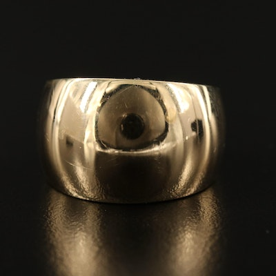 14K Gold Tapered Ring
