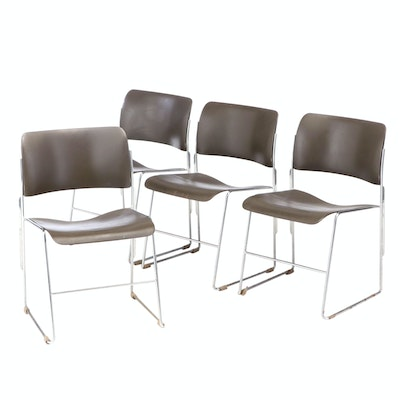 Modernist Style Stackable Metal Chairs, Mid to Late 20th Century