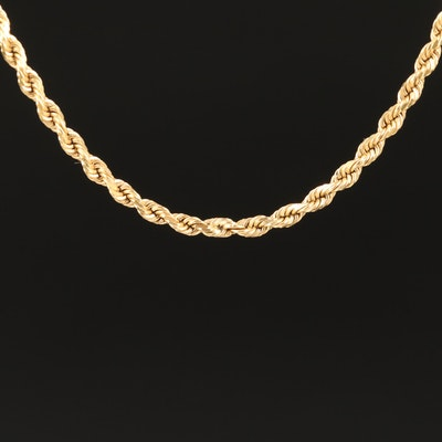 18K Rope Chain Necklace