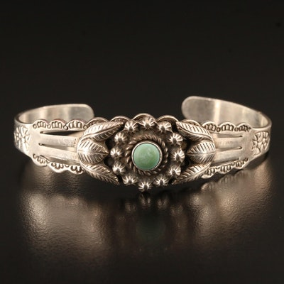 Sanford Sterling Silver Turquoise Cuff