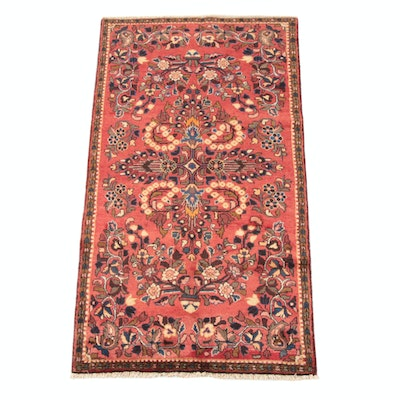 3'8 x 7'5 Hand-Knotted Persian Lilihan Wool Rug