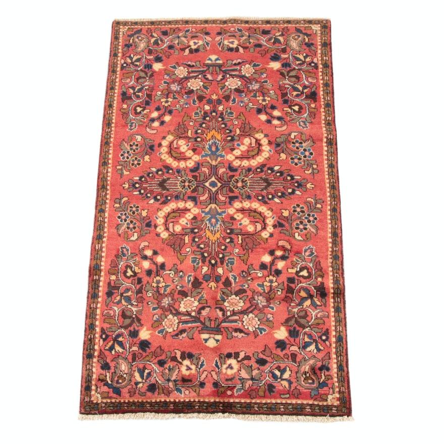 3'8 x 7'5 Hand-Knotted Persian Lilihan Wool Rug