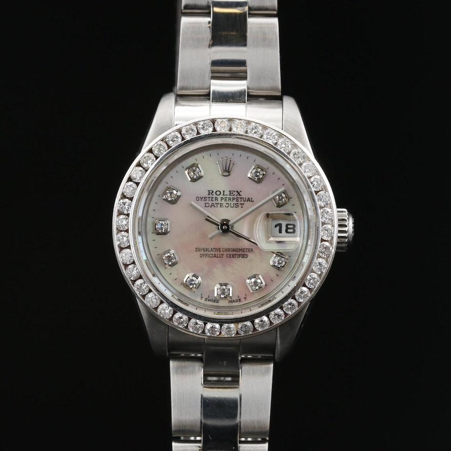 2005 Rolex Datejust 14K and Stainless Steel,  Diamond and MOP Wristwatch
