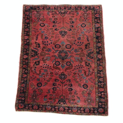 3'4 x 4'9 Hand-Knotted Persian Lilihan Wool Rug