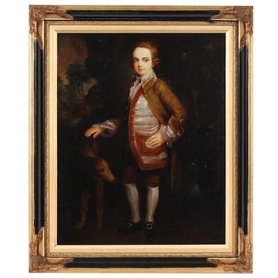 "Oil Portrait After George Stubbs ""Portrait of John Nelthorpe as a Child"""