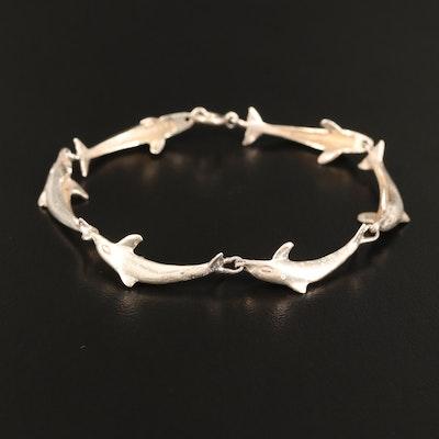Sterling Dolphin Motif Bracelet