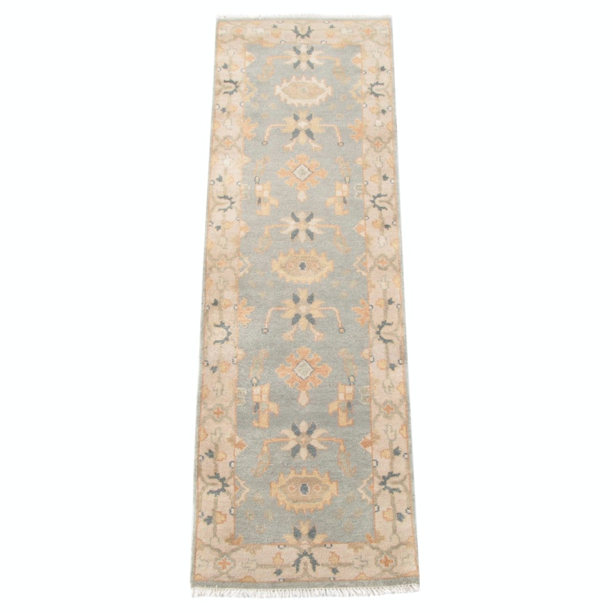 2'5 x 8'0 Hand-Knotted Indo-Persian Wool Carpet Runner