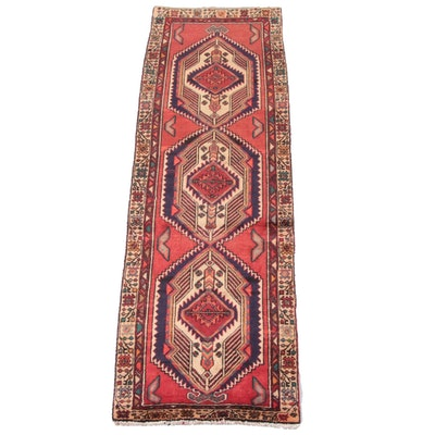 2'11 x 10'0 Hand-Knotted Persian Khamseh Wool Carpet Runner