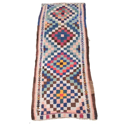 3'7 x 9'9 Handwoven Persian Kilim Wool Long Rug