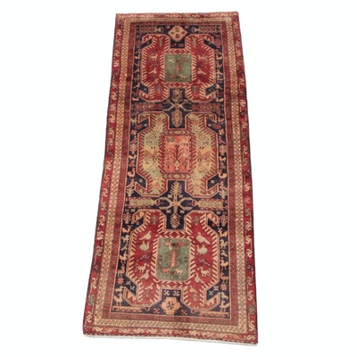3'6 x 9'6 Hand-Knotted Caucasian Karabagh Wool Long Rug