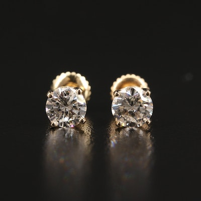 14K 1.52 CTW Diamond Stud Earrings