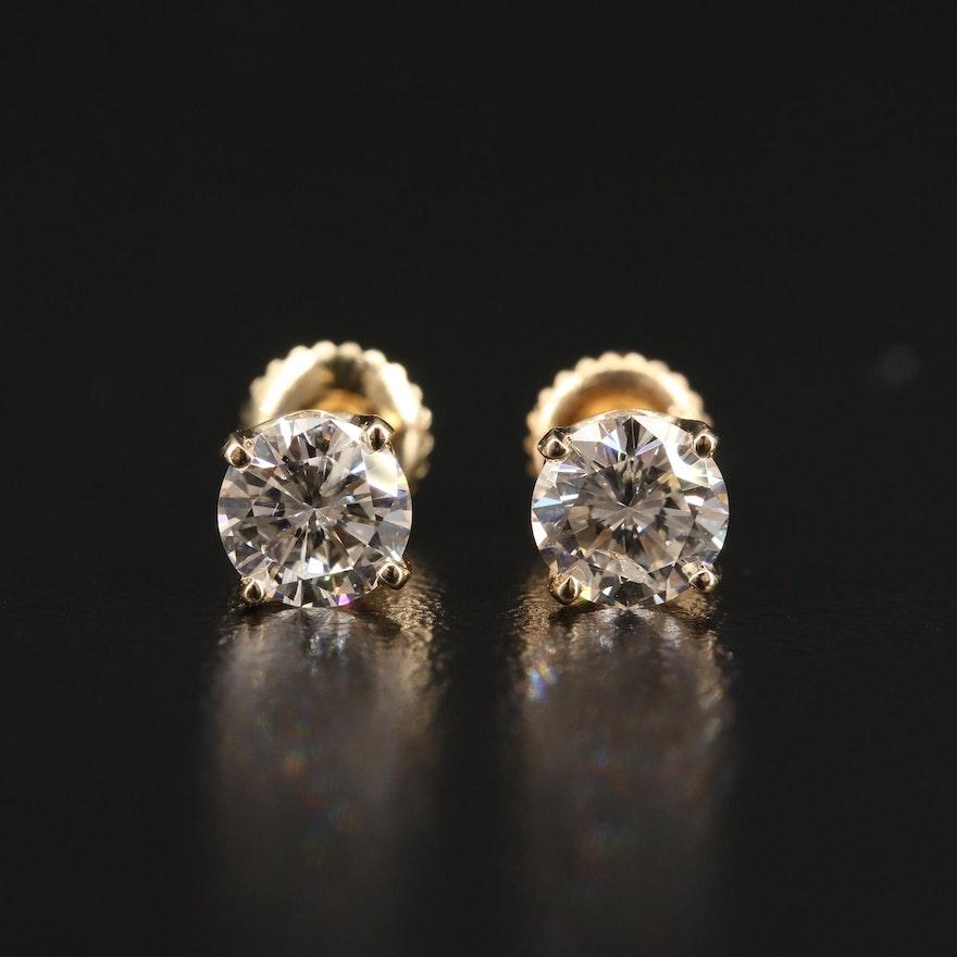 14K 1.52 CTW Diamond Stud Earrings