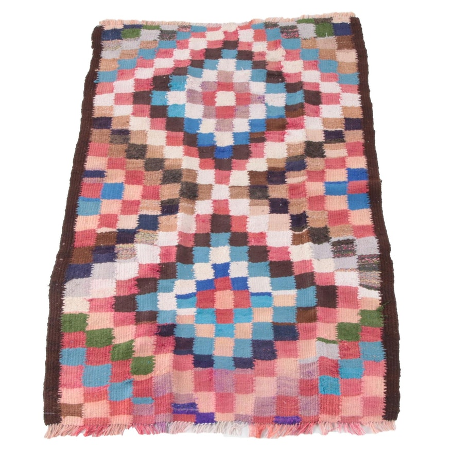 4'2 x 7'2 Handwoven Persian Kilim Wool Rug