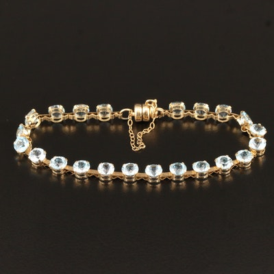 14K Topaz Link Bracelet with Magnetic Clasp