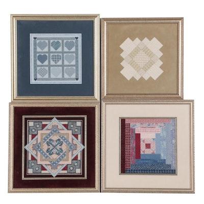 Hand-Stitched Decorative Needlepoint Panels