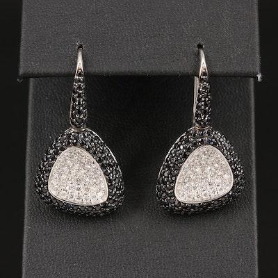 "Roberto Coin ""Capri Plus"" 18K 1.45 CTW Diamond and Sapphire Earrings"
