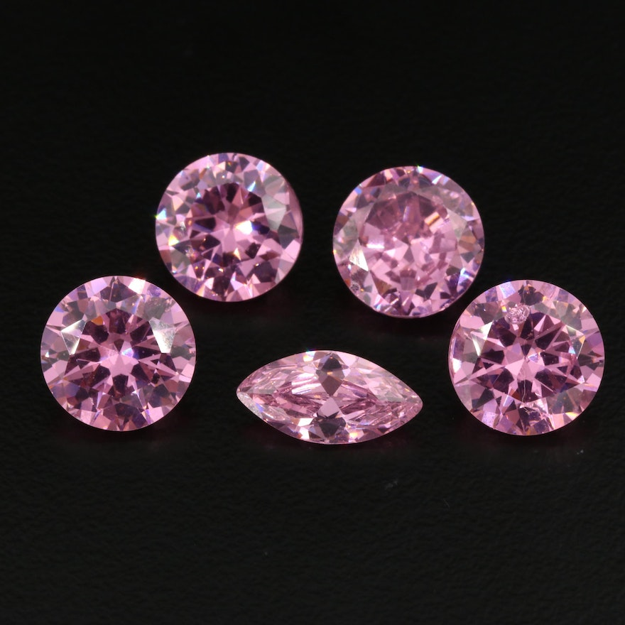 Loose 31.78 CTW Round and Marquise Faceted Cubic Zirconia