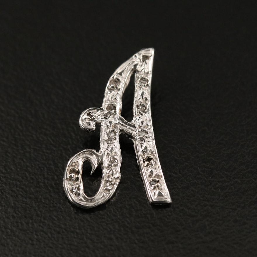 "14K Diamond ""A"" Pendant"