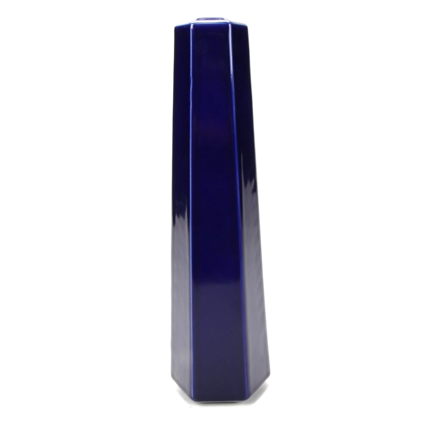 Frank Lloyd Wright Collection Cobalt Vase