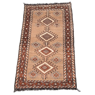 3'3 x 6'7 Hand-Knotted Caucasian Shirvan Wool Rug