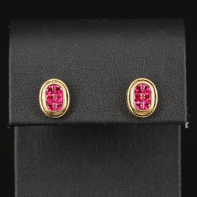 18K Ruby Earrings