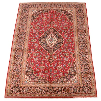 6'9 x 9'11 Hand-Knotted Persian Mashhad Wool Rug