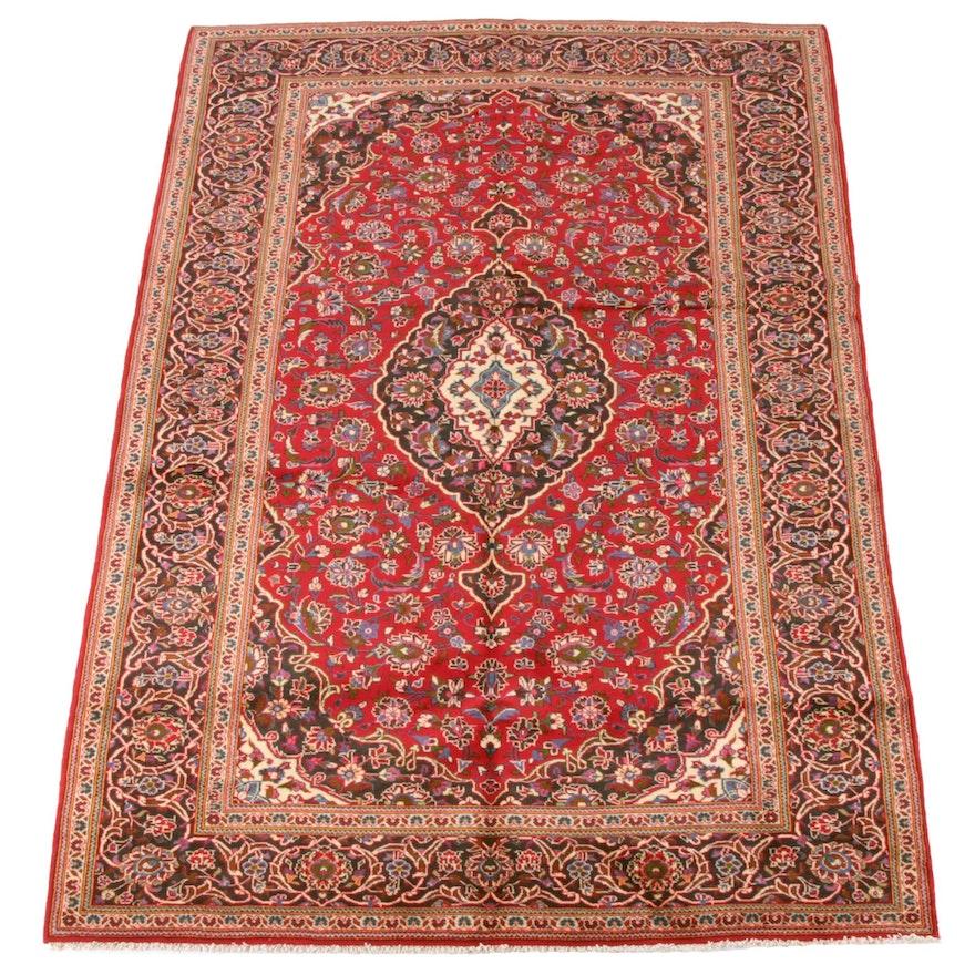 6'9 x 9'11 Hand-Knotted Persian Mashhad Wool Rug