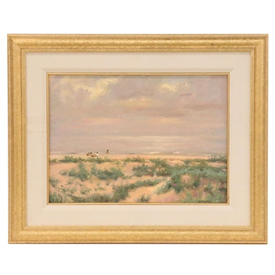 Dean Gurnack Landscape Oil Painting of Coastal Scene