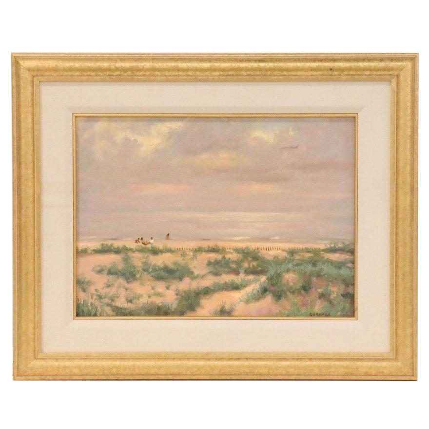 Dean Gurnack Landscape Oil Painting of Coastal Scene