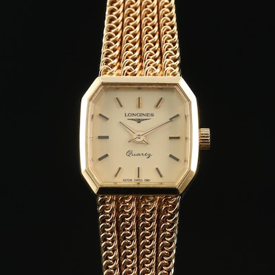 1991 Longines Gold Tone Quartz Wristwatch