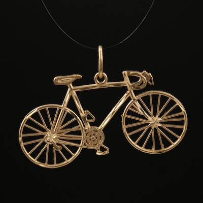 14K Bicycle Charm Pendant