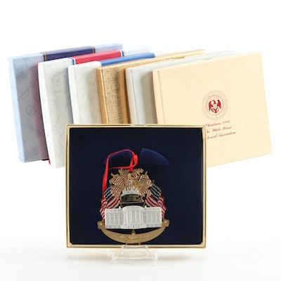 """The White House"" Historical Association Christmas Ornaments in Packaging"