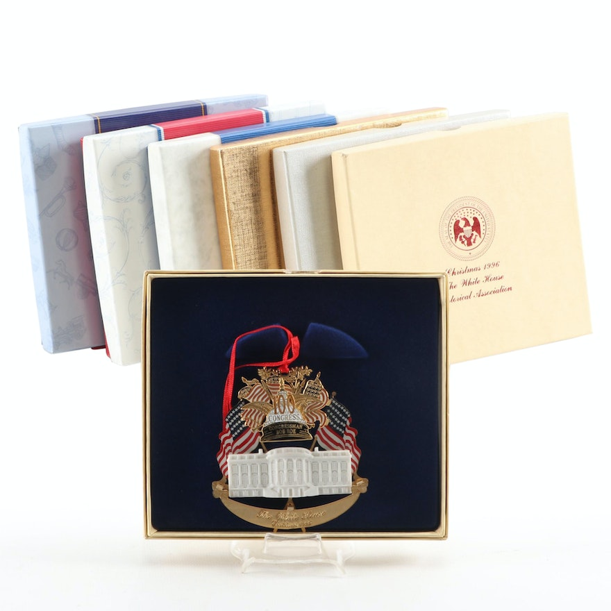 """""""The White House"""" Historical Association Christmas Ornaments in Packaging"""