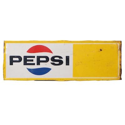 Large Pepsi Metal Advertising Sign, 1960s