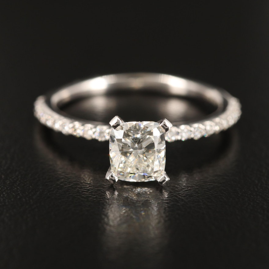 14K 1.23 CTW Diamond Ring with GIA Report