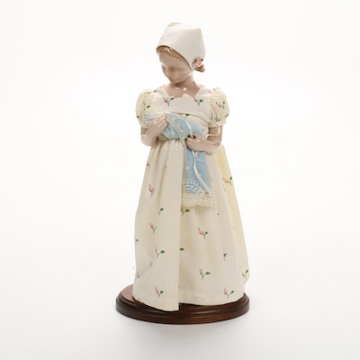 "Bing & Grøndahl ""Mary with Doll"" Figurine with Stand"