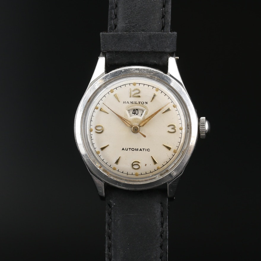 1959 Hamilton Illinois Signmatic B Stainless Steel Automatic Wristwatch