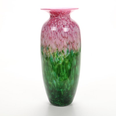 Mad Art Glass Vase, Signed 2000