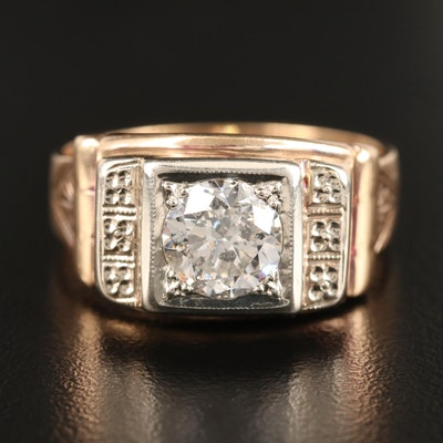 Vintage 14K 1.70 CT Diamond Ring