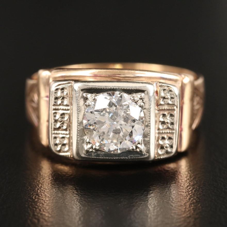 Vintage 14K 1.70 CT Diamond Ring