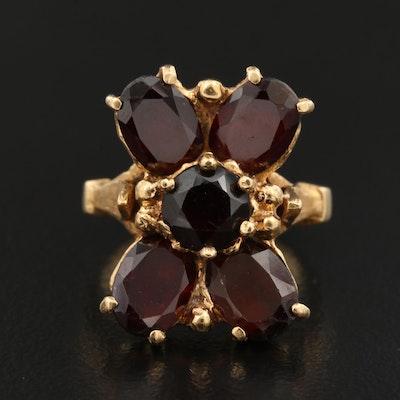 18K Garnet Ring
