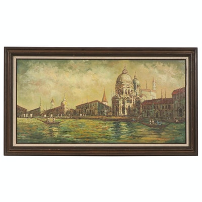 Impressionist Style Oil Painting of St. Mark's Square in Venice