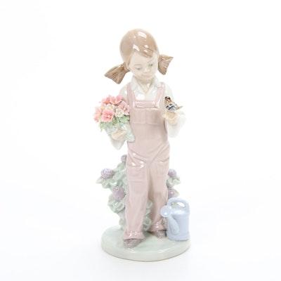 """Lladró """"Spring Girl"""" Porcelain Figurine Designed by Juan Huerta"""