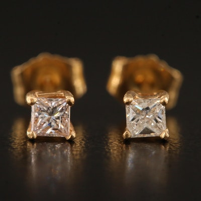 14K 0.22 CTW Diamond Solitaire Studs