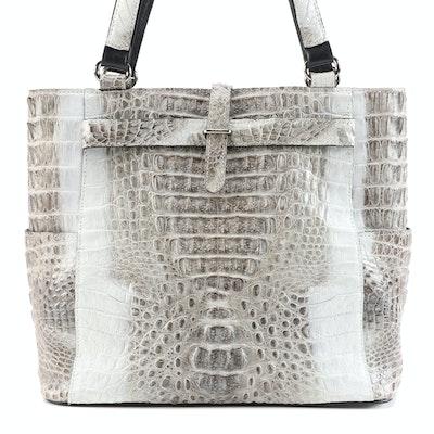 River Crocodile Skin Leather Shoulder Bag